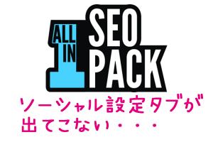 all in one seoのソーシャル設定タブが表示されない